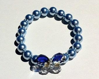 Mco Baby Blue Butterfly Bracelet