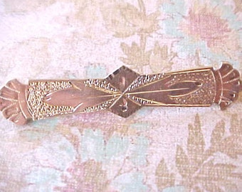 Lovely Victorian Era Rose Gold Filled Bar Pin