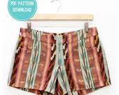 Maritime Shorts : Downloadable Sewing Pattern PDF