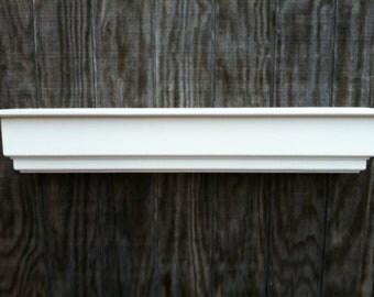 Wooden white wall shelf