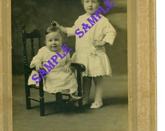 Digital Download-Noble Children Studio Portrait from early 20th century