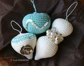 Crochet pattern,Vintage inspired Christmas baubles pattern, crochet Christmas ornaments pattern (110)