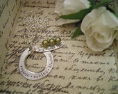 Personalized Hand Stamped Family Mother My Sweet Peas Pod Necklace