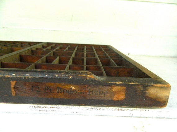 Reserved for Michela- Vintage Letterpress Drawer