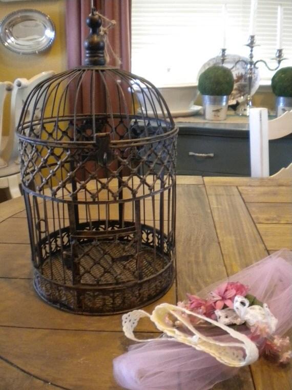 DIY Wedding Card Vintage Birdcage