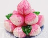 Custom 1/2 scale Custom Order - Blissful Peach Longevity Bun - Shou Tao & Prosperity Cake