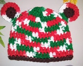 Baby Christmas Bear Hat - Crochet Newborn Beanie Boy Girl Costume Winter Thanksgiving Photo Prop Cap Outfit