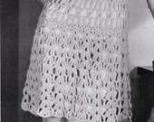 Different Stitch Lacy Crochet Dress 1960s Hippie Vintage Crocheting PDF PATTERN