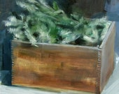 "Archival 10"" x 10"" Art Print / Free Shipping / ""Pine Branches in Wooden Crate (no.73)"""