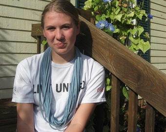 Light blue t-shirt scarf