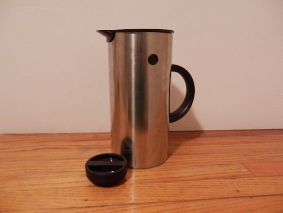 Stelton Thermos, Stainless Steel, Made in Denmark by Erik Magnussen, thermos/carafe/pitcher