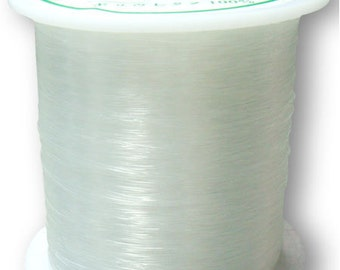 50 feet Nylon Clear Beading Wire 0.4mm thick- FREE SHIPPING within USA