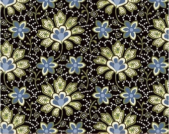 Crazy for Shelburne Collection - Floral Pop - Black -Shelburne Museum -Windham Fabrics