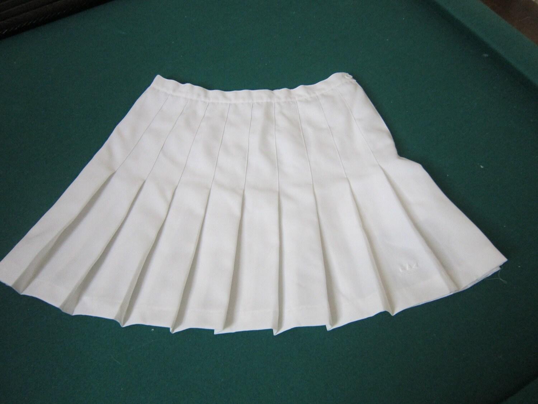adidas white pleated vintage tennis skirt by vintageclothesla