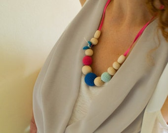 Silk Mama Nursing/Teething Necklace by SimplyaCircle-Breastfeeding Necklace-Eco-Friendly-Mother's day