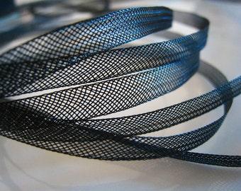 2 Yards of Black Horsehair Flat Crinoline for Hair Accessories ( 6mm Width )