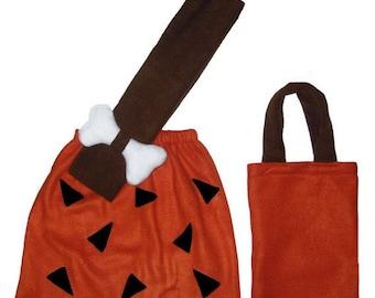 Bamm Bamm Flintstones Rust/Brown or Orange/Black Custom Made Halloween Costume