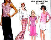 Grooves by Simplicity 7185 Junior Sizing 11/12, 15/16 UNCUT Tops, Skirt, Pants