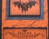 Handmade Gothic Bat Happy Halloween Card