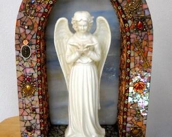 ON SALE  The Messenger Mosaic Angel Shrine