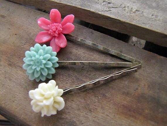 Flower Bobby Pin Set