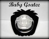 Mustache Pacifier-Baby Goatee-Little Man Party-Baby Shower gift- Mustache Party- Little Man- Baby Boy