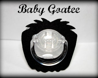 Mustache Pacifier-Baby Goatee-Little Man Party-Baby Shower gift- Mustache Party- Little Man- Baby Boy