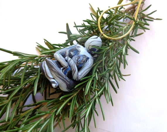 Dark Winter Goddess Yule Ornament. Free US Shipping.  Black Friday Cyber Monday Sale. 30% Off.