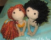 RESERVED - Mermaid Shelly and Merman Chris Crochet Dolls
