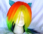 Rainbow Dash Wig MLP Costume Wig My Little Pony Cosplay Burlesque Friendship is Magic