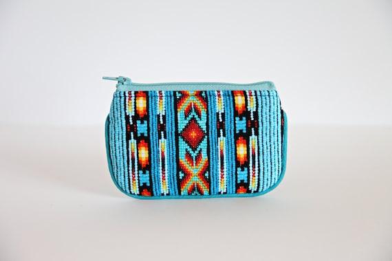 Camera case, Coin purse, wallet, change purse, Aztec print, Point N Shoot Case