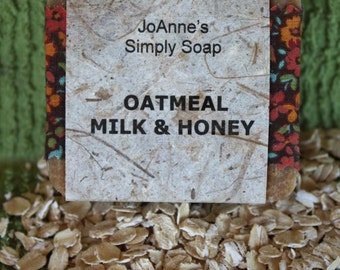 Hand Crafted Natural Oatmeal, Milk & Honey Soap