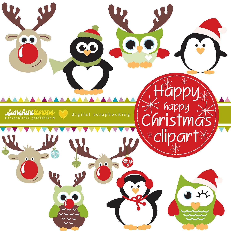 Items similar to Happy Happy Christmas Clipart - Christmas ...
