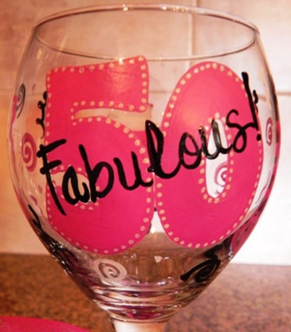 Birthday Wine Glass By SassyPeasDesigns On Etsy