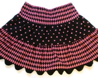 Girl's Twirl Skirt, Hot Pink Skirt, Toddler Skirt, Little Girls Skirts, Twirl Skirt, Ruffled Skirt, Toddler Twirl Skirt, Girl Skirt