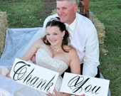 Thank you signs...wedding prop