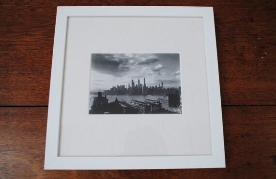 Black & white New York print (2), framed