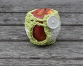 Cotton Apple Cozy in Green and White  - RTS