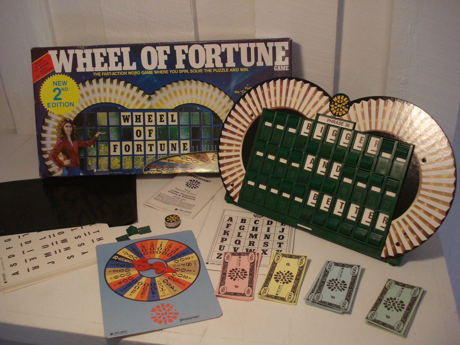Vintage Wheel Of Fortune Board Game from 1985 by ...