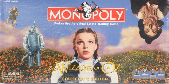 The Wizard of Oz Monopoly Board Game Collector's Edition