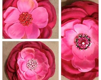 Hot Pink Silk Flower