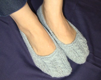 Knitted slippers / Knit Socks Free US Shipping