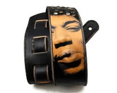 Guitar strap / Handmade guitar strap / Gift for him / JIMI HENDRIX design