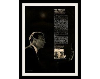 DAVE BRUBECK Jazz Record Ad Print, Vintage Advertising Wall Art Decor