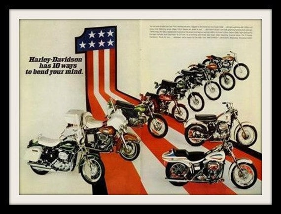 Harley Davidson Advertising: 1971 HARLEY DAVIDSON Motorcycle Ad Hot Ones