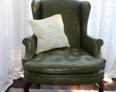 Pair of Vintage Wing Chairs