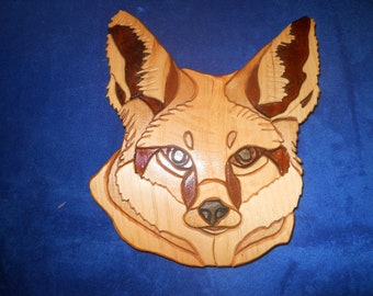 Fox, wooden, segmentation, Home Decor, Nature, Country Decor