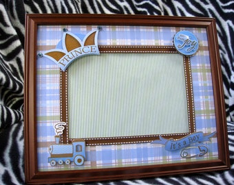 Little Prince- 8x10 Picture Frame w/ 5x7 Matte for Baby Boy