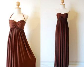 Bridesmaid Dresses, Brown Bridesmaid Prom Dress, Bridesmaid Dresses, Prom Dresses