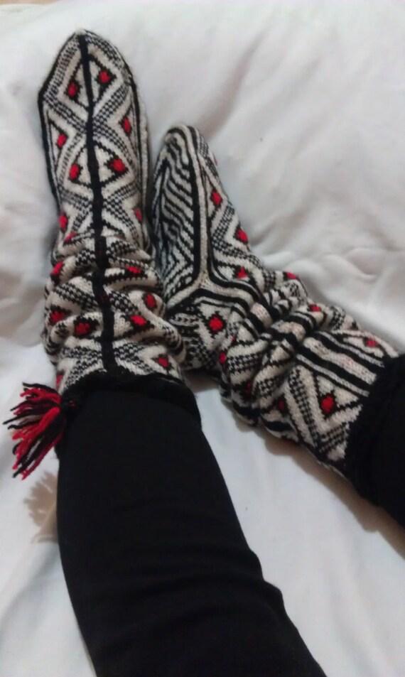 Hand - Knit New Dizayn - Home Socks